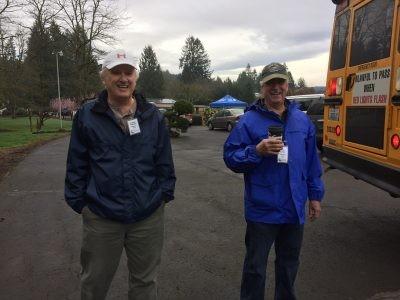 Patrick and Stan, volunteers