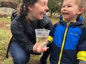Teachers Release Salmon